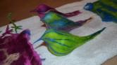 Three little birdies on my doorstep!