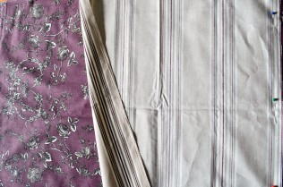 Joining the co-ordinating fabrics.