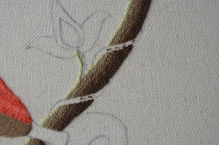 Chain stitch and more chain stitch.
