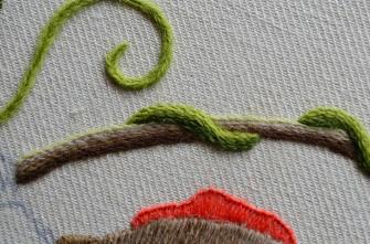 Raised button hole stitch.