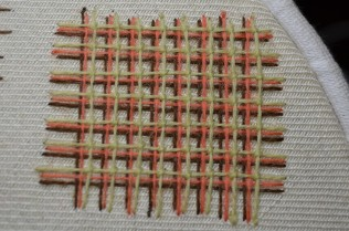 Battlement stitch