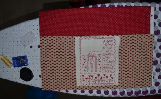 Front panel stitched