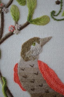 Herringbone stitched beak